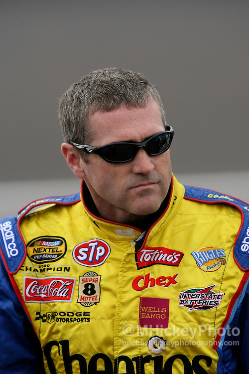 Bobby Labonte seen on pit lane during qualifications at Las Vegas Motor Speedway.