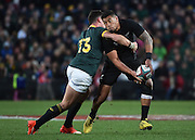 JOHANNESBURG, South Africa, 25 July 2015 : Charles Piutau of the All Blacks is tackled by Jesse Kriel of the Springboks during the Castle Lager Rugby Championship test match between SOUTH AFRICA and NEW ZEALAND at Emirates Airline Park in Johannesburg, South Africa on 25 July 2015. Bokke 20 - 27 All Blacks<br /> <br /> © Anton de Villiers / SASPA