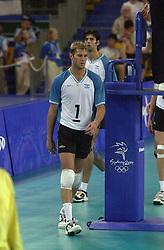 23-09-2000 AUS: Olympic Games Volleybal Joegoslavie - Argentinie, Sydney<br /> Marcos Milinkovic