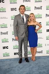 Dax Shepard with Kristen Bell at the 2014 Film Independent Spirit Awards Arrivals, Santa Monica Beach, Santa Monica, United States, Saturday, 1st March 2014. Picture by Hollywood Bubbles / i-Images<br /> UK ONLY