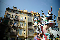 "las fallas festival in Valencia Spain. Las Fallas literally means ""the fires"" in Valencian ..""Ninots"" are enormous chariacatures made of papier mache, wood and wax and placed around the city of Valencia. They are burnt on the night of St Joseph(19th March)known as ""La Crema"""