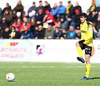 Fotball ,  OBOS-Ligaen<br /> 07.04.19<br /> Nammo Stadion<br /> Raufoss v Sandefjord  0-2<br /> Foto :  Dagfinn Limoseth , Digitalsport<br /> Edvard Linnebo Race , Raufoss