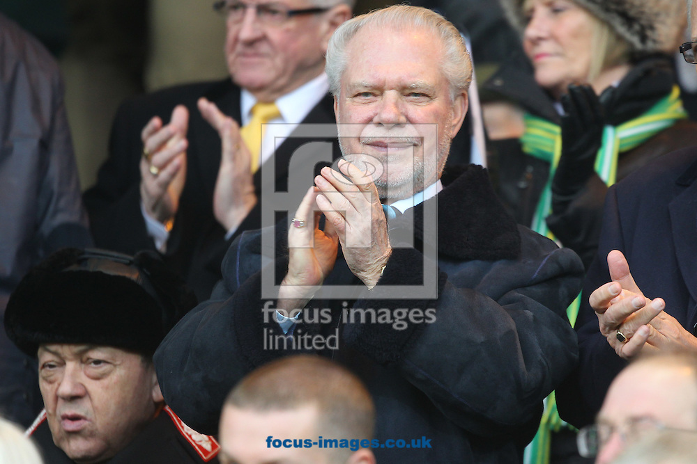 West Ham's joint Chairmen David Gold and David Sullivan before the Barclays Premier League match at Carrow Road, Norwich<br /> Picture by Paul Chesterton/Focus Images Ltd +44 7904 640267<br /> 13/02/2016