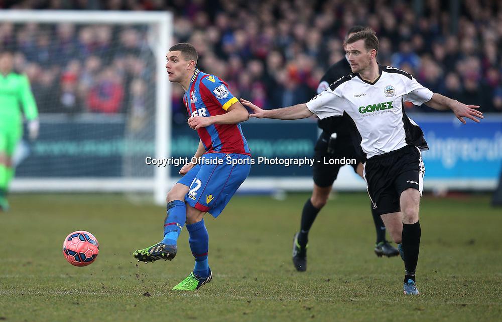 4 January 2015 FA Cup 3rd round - Dover Athletic v Crystal Palace ;  Stuart O'Keefe of Palace.<br /> Photo: Mark Leech