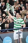 Darren O'Dea lifts the League Cup final after Celtic had wooon the final between Rangers and Celtic at Hampden Park -<br /> David Young