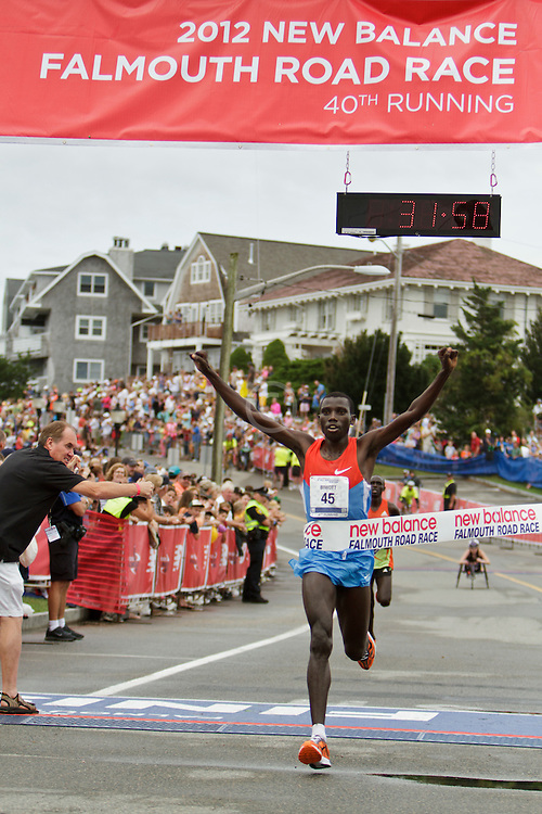 Falmouth Road Race, men's champion Stanley Biwott