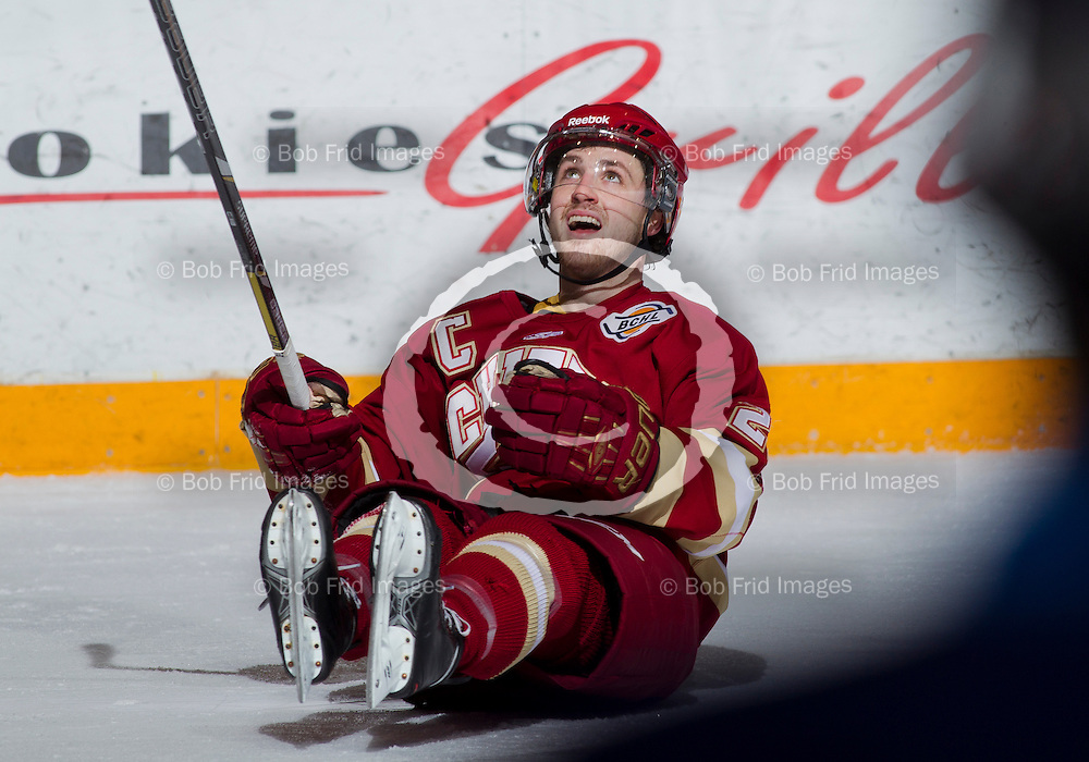 11 January 2014:  Tanner Cochrane (21) of the Chiefs   during a game between the Chilliwack Chiefs and the Langley Rivermen at Prospera Centre, Chilliwack, BC.    ****(Photo by Bob Frid - All Rights Reserved 2013): mobile: 778-834-2455 : email: bob.frid@shaw.ca ****