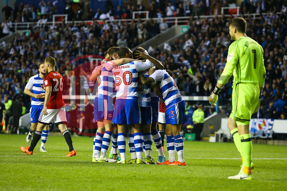 Reading celebrate, Goal, Yann Kermorgant of Reading scores from the penalty spot, Reading 1-0 Fulham - Mandatory by-line: Jason Brown/JMP - 16/05/2017 - FOOTBALL - Madejski Stadium - Reading, England - Reading v Fulham - Sky Bet Championship Play-off Semi-Final 2nd Leg