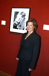 Photographer ALISON JACKSON at an aution of art inspired by footballer David Beckham in aid of The National Deaf Children's Society and held at Christie's, St.James's, London on 4th November 2004.<br /><br />NON EXCLUSIVE - WORLD RIGHTS