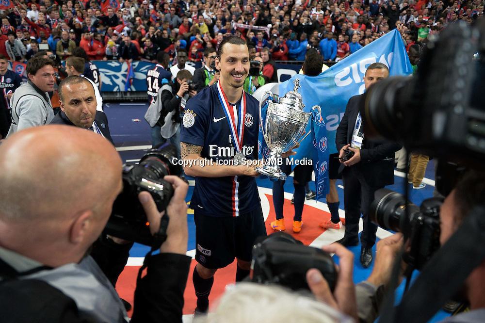 Joie PSG - Zlatan Ibrahimovic - 30.05.2015 - Auxerre / Paris Saint Germain - Finale Coupe de France<br />Photo : Andre Ferreira / Icon Sport