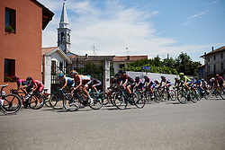 The peloton speed by at Giro Rosa 2018 - Stage 10, a 120.3 km road race starting and finishing in Cividale del Friuli, Italy on July 15, 2018. Photo by Sean Robinson/velofocus.com