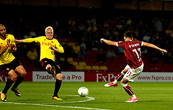 Callum O'Dowda of Bristol City shoots at goal - Mandatory by-line: Robbie Stephenson/JMP - 22/08/2017 - FOOTBALL - Vicarage Road - Watford, England - Watford v Bristol City - Carabao Cup