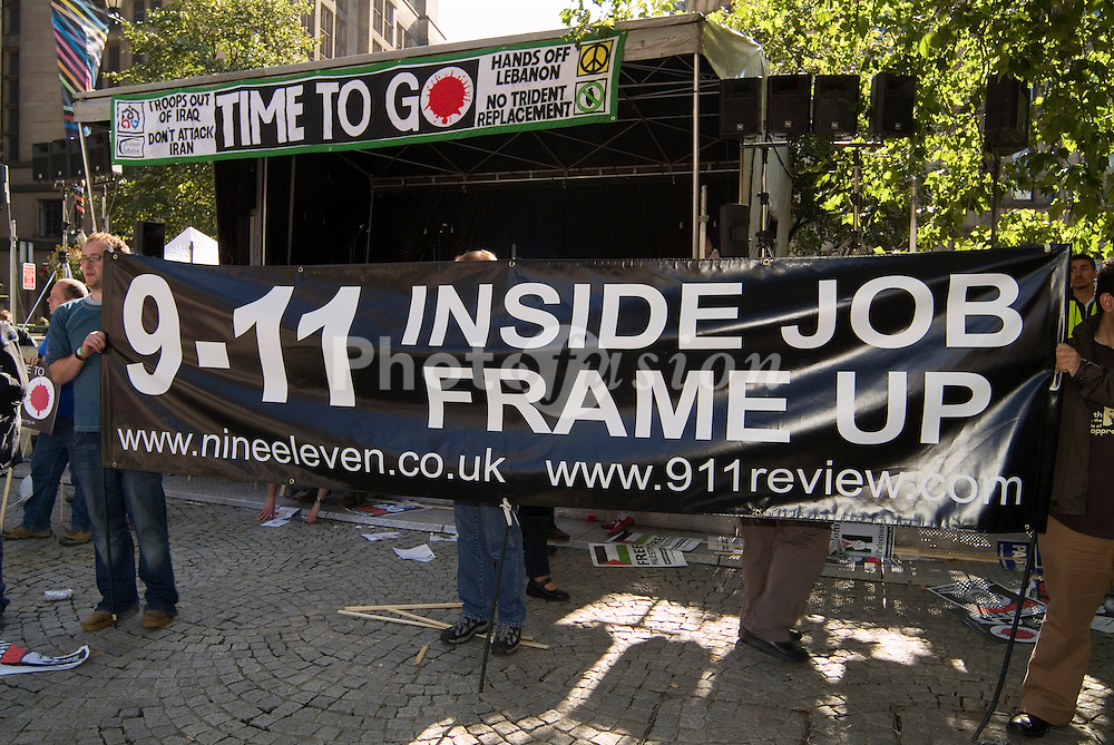 Anti war demo in Manchester during New Labour Party conference; September 2006 UK