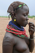 Young Dasanech girl, Omovalley,Ethiopia,Africa