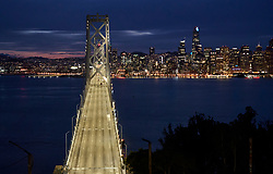 March 17, 2020, San Francisco, California, USA: The San Francisco-Oakland Bay Bridge traffic is much lighter due to the 'shelter in place' mandate in San Francisco Bay area.(Credit Image: © Paul Kuroda/ZUMA Wire)