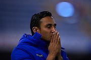 VALENCIA, SPAIN - MARCH 02: Keylor Navas of Levante UD reacts during the Liga BBVA between Valencia CF and Levante UD at the Mestalla stadium on March 02, 2013 in Valencia, Spain. (Photo by Aitor Alcalde Colomer).