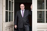 11 APR 2019, BERLIN/GERMANY:<br /> Peter Altmaier, CDU, Bundesminister fuer Wirtschaft und Energie, an der Tuer zum Balkon seine Bueros, Bundesministerium fuer Wirtschaft und Energie<br /> IMAGE: 20190411-01-028<br /> KEYWORDS: Büro