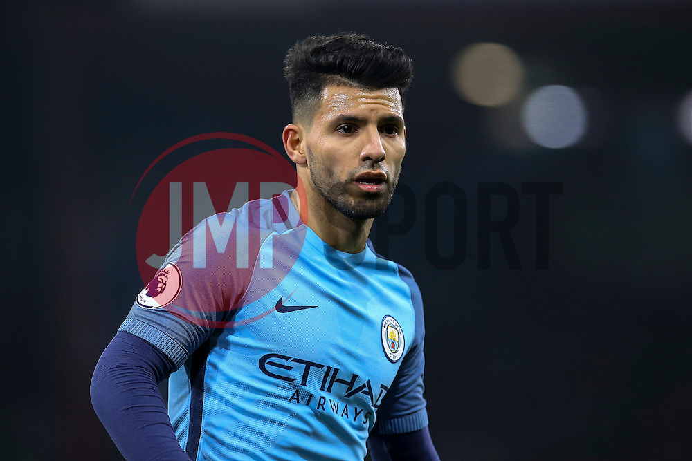 Sergio Aguero of Manchester City comes on early as a substitution in the  first half - Mandatory by-line: Jason Brown/JMP - 13/02/2017 - FOOTBALL - Vitality Stadium - Bournemouth, England - Bournemouth v Manchester City - Premier League