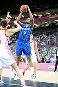 DESCRIZIONE : Basketball Jeux Olympiques Londres Demi finale<br /> GIOCATORE : Miyem Endene<br /> SQUADRA : France  FEMME<br /> EVENTO : Jeux Olympiques<br /> GARA : France Russie<br /> DATA : 09 08 2012<br /> CATEGORIA : Basketball Jeux Olympiques<br /> SPORT : Basketball<br /> AUTORE : JF Molliere <br /> Galleria : France JEUX OLYMPIQUES 2012 Action<br /> Fotonotizia : Jeux Olympiques Londres demi Finale Greenwich Northwest Arena<br /> Predefinita :