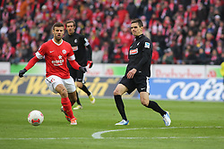19.01.2013, Coface Arena, Mainz, GER, 1. FBL, 1. FSV Mainz 05 vs SC Freiburg, 18. Runde, im Bild Marco Caligiuri (Mainz) gegen Johannes Flum (SC) // during the German Bundesliga 18th round match between 1. FSV Mainz 05 and SC Freiburg at the Coface Arena, Mainz, Germany on 2013/01/19. EXPA Pictures © 2013, PhotoCredit: EXPA/ Eibner/ Matthias Neurohr..***** ATTENTION - OUT OF GER *****