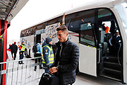 OSTERSUND, SWEDEN - MARCH 17: Markus Rosenberg of Malmo FF arrives prior to the Swedish Cup Semifinal between Ostersunds FK and Malmo FF at Jamtkraft Arena on March 17, 2018 in Ostersund, Sweden. (Photo: Nils Petter Nilsson/Ombrello ***BETALBILD***
