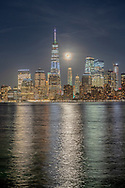 Moonrise, Lower Manhattan SkylineNew York City, NY