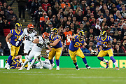 LA Rams Running Back Todd Gurley (30) on the run during the International Series match between Los Angeles Rams and Cincinnati Bengals at Wembley Stadium, London, England on 27 October 2019.