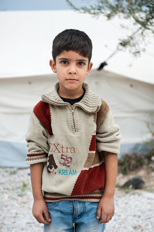 Mashal 6 years old from Iraq in Kara Tepe camp in Lesvos, Greece