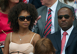 LONDON, ENGLAND - Saturday, June 26, 2010: Cricketer Brian Lara and Susan Gossage in the Royal Box on Centre Court on day six of the Wimbledon Lawn Tennis Championships at the All England Lawn Tennis and Croquet Club. (Pic by David Rawcliffe/Propaganda)
