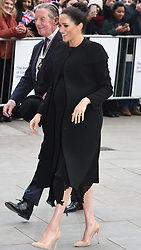January 31, 2019 - London, London, United Kingdom - The Duchess Of Sussex At City University London...The Duchess of Sussex arriving at the City University London. The Duchess will meet students from the Commonwealth who are studying in the UK. (Credit Image: © Pete Maclaine/i-Images via ZUMA Press)