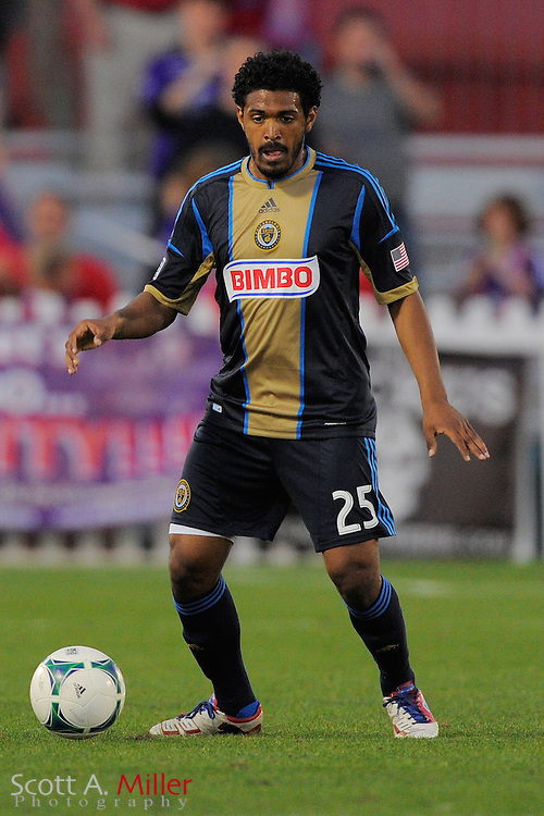 Philadelphia Union defender Sheanon Williams (25) during the Disney Pro Soccer Classic on Feb 9, 2013  in Lake Beuna Vista, Florida. ..©2013 Scott A. Miller