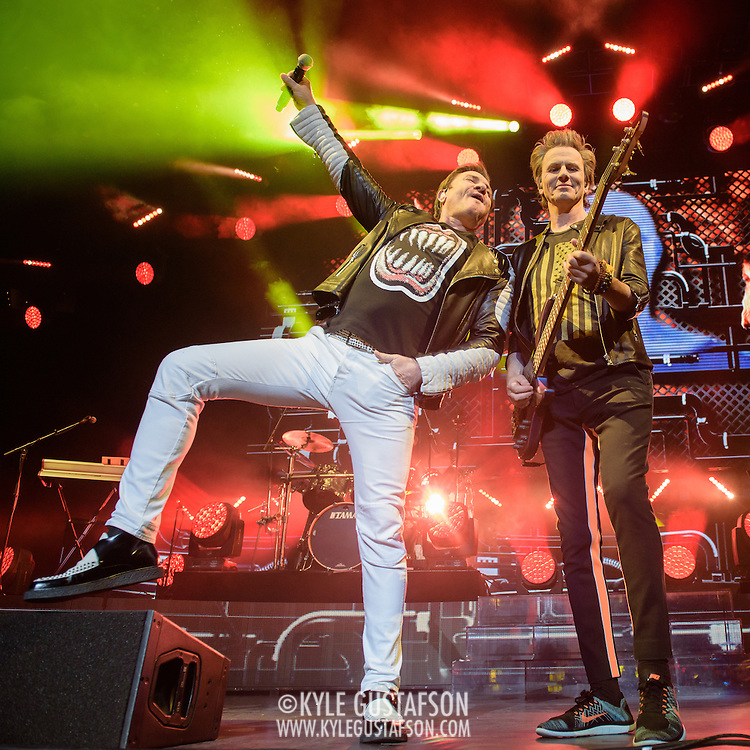 John Taylor and Simon Le Bon of Duran Duran perform at the Verizon Center as part of their Paper Gods tour.