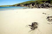 Sandy beach, Bay of Scousburgh, Shetland Islands, Scotland