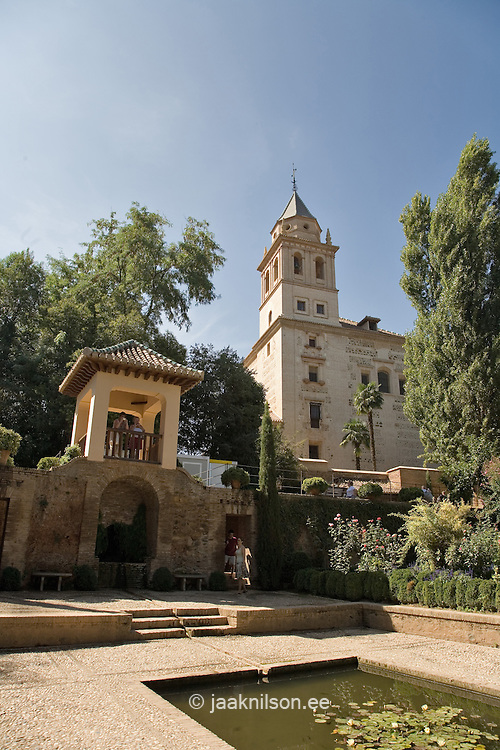 Moorish Alhambra Palace in Granada, Andalucia, Spain