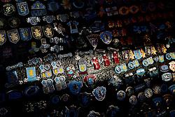 Pin badges on sale outside Villa park - Photo mandatory by-line: Rogan Thomson/JMP - 07966 386802 - 07/04/2015 - SPORT - FOOTBALL - Birmingham, England - Villa Park - Aston Villa v Queens Park Rangers - Barclays Premier League.