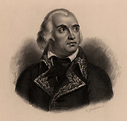 Charles Pichegru (1761-1804) French soldier. A Bourbon (Royalist) sympathiser, after the French Revolution (1789) he lived in exile in England and Germany. Plotted with Candoudal against Napoleon Bonaparte. Arrested on his return to Paris and found strangled in prison before coming to trial. Engraving, 1895.