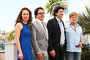 Producers Anna Gerb, Neal Dodson, director J. C. Chandor and actor Robert Redford attend the 'All Is Lost' Photocall during the 66th Annual Cannes Film Festival at the Palais des festivals on May 22, 2013 in Cannes, France
