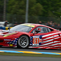 #61 Ferrari 458 Italia GTC 4.5 L V8. Drivers: Robert Kauffman, Brian Vickers and Rui Águas for AF Corse-Waltrip at Le Mans 2012, 13th June 2012