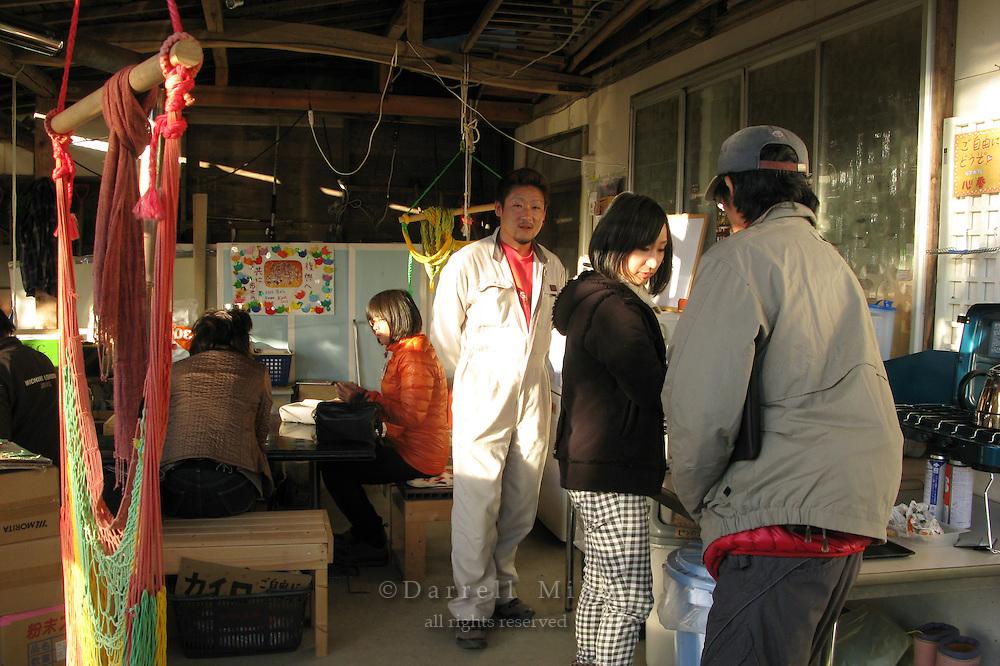 Nov. 15, 2011; Minamisanriku, Miyagi Pref., JPN - Aid to Tohoku, Japan. Hugs House, a place where temporary housing residents can go for a free meal and counseling in Minamisanriku.