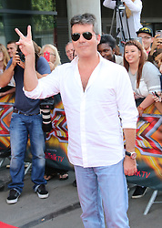 © Licensed to London News Pictures. 24/06/2014. London, UK Simon Cowell, X Factor London Photocall, Emirates Stadium, London UK, 24 June 2014. Photo credit : Richard Goldschmidt/LNP