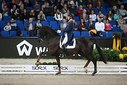 Van Silfhout Diederik, (NED), Bonzanjo<br /> Grand Prix Special<br /> Reem Acra FEI World Cup Dressage<br /> Stuttgart - German Masters 2015<br /> © Hippo Foto - Stefan Lafrentz