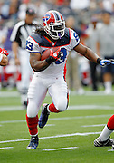 Buffalo Bills running back Marshawn Lynch (23) runs the ball during the NFL regular season week 3 football game against the New England Patriots on September 26, 2010 in Foxborough, Massachusetts. The Patriots won the game 38-30. (©Paul Anthony Spinelli)