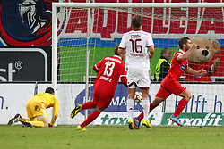24.09.2014, Voith Arena, Heidenheim, GER, 2. FBL, 1. FC Heidenheim vs 1. FC Nuernberg, 7. Runde, im Bild Patrick Mayer (1.FC Heidenheim) nach dem 3:0 // during the 2nd German Bundesliga 7th round match between 1. FC Heidenheim and 1. FC Nuernberg at the Voith Arena in Heidenheim, Germany on 2014/09/24. EXPA Pictures © 2014, PhotoCredit: EXPA/ Eibner-Pressefoto/ Langer<br /> <br /> *****ATTENTION - OUT of GER*****