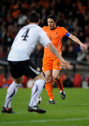 09-02-2011 VOETBAL: NEDERLAND - OOSTENRIJK: EINDHOVEN<br /> Netherlands in a friendly match with Austria won 3-1 / Mark van Bommel NED<br /> ©2011-WWW.FOTOHOOGENDOORN.NL