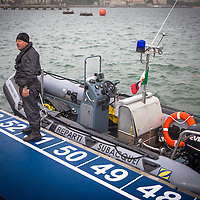 08/05/2016 - Marina Militare, Comsubin - Rescue Staff at 2016 Cagliari ITU Triathlon World Cup -