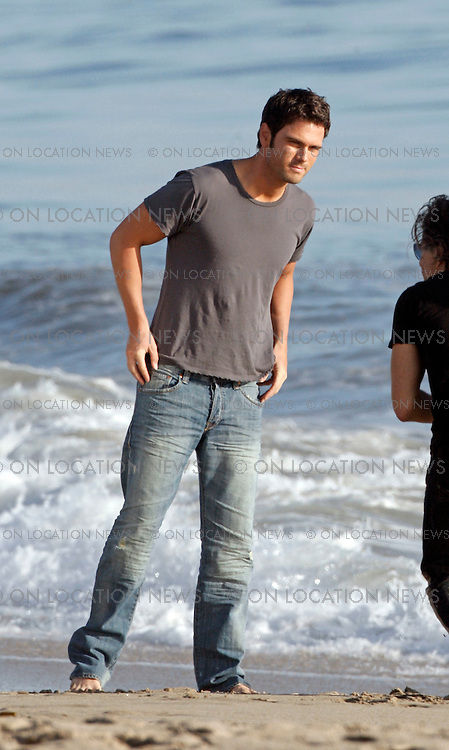 SANTA MONICA, CALIFORNIA - WEDNESDAY 18TH MARCH 2009. **EXCLUSIVE** Country singer and current contestant on Dancing With The Stars, Chuck Wicks, poses for a magazine photo shoot on a Santa Monica beach. Photograph: On Location News. Sales: Eric Ford 1/818-613-3955 info@OnLocationNews.com