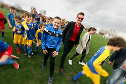 07 April 2018. Blaringhem, Pas de Calais, France.<br /> Phase District Festival U13 Pitch - Festival Foot U13. A tournament of 8 teams.<br /> US Montreuil Sur Mer U13a and U13 girls teams with coaches and parents.<br /> Photo©; Charlie Varley/varleypix.com