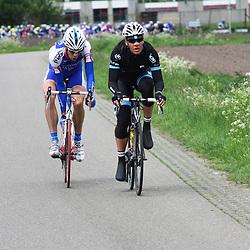 60e ronde van Overijssel Jeff Vermeulen en Sander Oostlander in de aanval