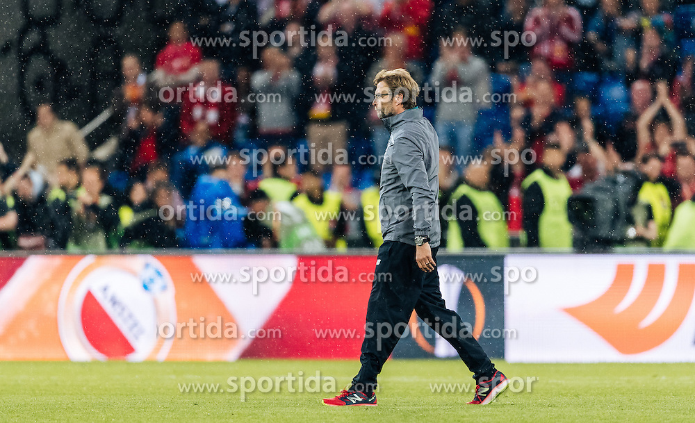 18.05.2016, St. Jakob Park, Basel, SUI, UEFA EL, FC Liverpool vs Sevilla FC, Finale, im Bild enttäuscht Trainer Juergen Klopp (FC Liverpool) // X during the Final Match of the UEFA Europaleague between FC Liverpool and Sevilla FC at the St. Jakob Park in Basel, Switzerland on 2016/05/18. EXPA Pictures © 2016, PhotoCredit: EXPA/ JFK