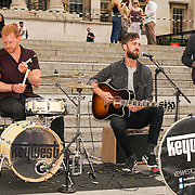 London,England,UK, 22th July 2016 : Keywest performs at the Mayor of London Sadiq Khan Launch of International Busking Day '#LondonIsOpen' in Trafalgar Square, London, UK. Photo by See Li